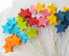 Edible Cake Decoration Stars Shooting Stars by SugarAndStripesCo, $7.80