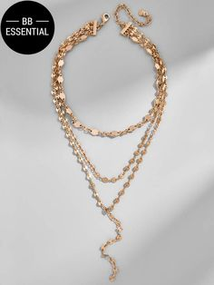 BaubleBar Aimee Layered Y-Chain Necklace