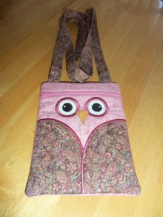 My pink paisley owl hipster purse