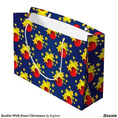 #Bauble With #Stars #Christmas #Large #Gift #Bag