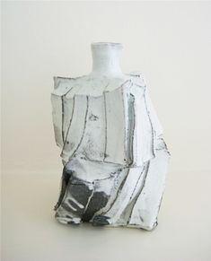 SHOZO MICHIKAWA (b. 1953)  (SHM102) Cut-sided kohiki bottle, 2007, stoneware, 18.5 x 12 cm