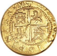 Peru: Carlos II gold 8 Escudos 1699-R