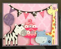 Handmade Birthday Party Animals Card by EmmaBeanCreations on Etsy, $6.50