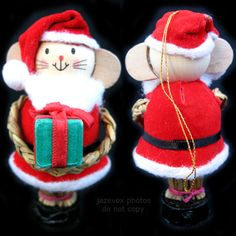 NEW NIB AVON CHRISTMAS Holiday Country Straw SANTA MOUSE Hanging TREE ORNAMENT $1 sorry SOLD .... we sell more Christmas or Holiday Décor Decorations at http://www.TropicalFeel.com