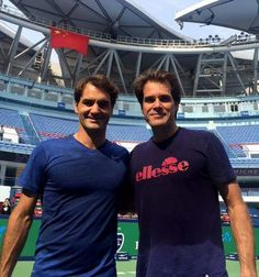 Roger with Tommy Haas in Shanghai/15