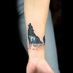 Image result for small wolf tattoos