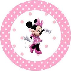 Minnie Mouse: Free Printable Toppers or Labels in pink. Right click and save as Minnie Mouse Stickers, Minnie Mouse Images, Minnie Mouse Cupcake Toppers, Minnie Mouse 1st Birthday, Minnie Mouse Theme, Minnie Mouse Baby Shower, Mouse Pictures, Kids Birthday Cards, Mouse Parties