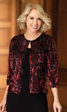 Ladies designer red black purple black velvet 3/4 sleeve formal party jacket top. Just £9.99 Sizes small to XXL