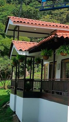 Village House Design, Bungalow House Design, Village Houses, Bungalow Landscaping, Bamboo House Design, Hut House, Kerala Houses, Spanish Style Homes, Timber House