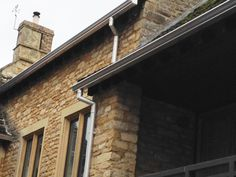 Brushed metal, mill finish guttering, a stylish solution to your rainwater goods.