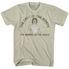 Andre The Giant Shirt Last One Khaki T-Shirt Andre The Giant Shirts Andre The Giant Shirt Last One Khaki T-Shirt This Andre The Giant t-shirt honoring Giants Shirt, Andre The Giant, Last One, Wonders Of The World, Graphic Tees, Tee Shirts, Mens Tops, Natural, Shopping