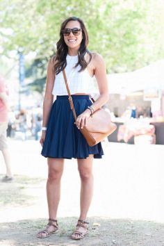 Name: Melissa Pinpin From: San Francisco What She's Wearing: American Apparel shirt and skirt, Forever 21 bag, ShoeMint shoes