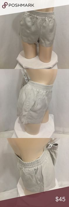 NWOT BCBGmaxazaria beige shorts New without tags. Never worn.were ironed for photographs. Size medium. All tags still in tact. Measurements are approx in inches laying flat. W-15 + stretch. Length-11.5 inseam-2 rise-11  🌹no trades 🌹discounts on bundles of 2+  🌹1000 items listed, take a peak!  🌹suggested user, posh compliant:) BCBGMaxAzria Shorts