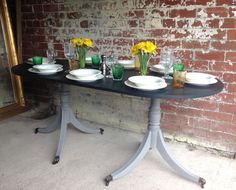 For Sale - Vintage Painted Dining Table  www.sallywhitedesigns.com