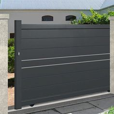 We have a large range of sliding gates to protect your home in style, ✅ state-of-the-art material ✅ Direct factory prices ✅ Resistant to the most extreme weather conditions ✅ 10 year manufacturer guarantee Iron Main Gate Design, House Main Gates Design, Front Gate Design, Door Gate Design, House Front Design, Fence Wall Design, Steel Gate Design, Metal Garden Gates, Metal Gates