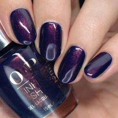 Nail Polish Society: OPI Iceland Fall/Winter 2017 Collection - Turn on the Northern Lights Cute Nails, Pretty Nails, Purple Nail Art, Dark Purple Nails, Gel Nagel Design, Manicure E Pedicure, Manicure Ideas, Pedicures, Nail Ideas