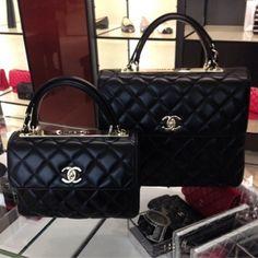 a1e70d63f297 Chanel Black Trendy CC Dual Handle Small Large Flap Bags Chanel Black