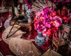 Chinese Floral Centerpiece at the Shunde Marriott Hotel Elegant Centerpieces, Marriott Hotels, Event Decor, Glass Vase, Table Decorations, Gallery, Flowers, Inspiration, China Style