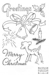 Christmas Embroidery transfer