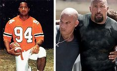 """""""The Rock"""" was a troubled kid. Johnson's father, who wrestled professionally as Rocky Johnson, was never there for his son, always on the road. After joining the University of Miami's championship team, Johnson played briefly in the Canadian Football League before turning to pro wrestling. Johnson's first acting job was playing his father on an episode of That 70's Show. The Fast and Furious star is currently in the HBO show Ballers."""