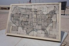 DIY Wooden Map of America: Learn how to make a recycled wooden map of America in just a few simple steps below.