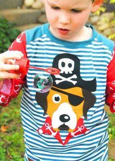 Piratenhund zum Applizieren für Kinder - Anleitung via Makerist.de