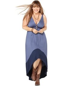 Soprano Plus Size Dress, Sleeveless Asymmetrical Hem Empire Maxi
