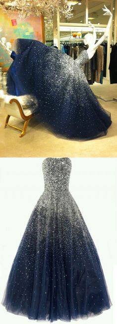 Vianla Luxurious 2017 Straps Sequin Bling Ball Gown Formal Evening Dresses Prom Gowns