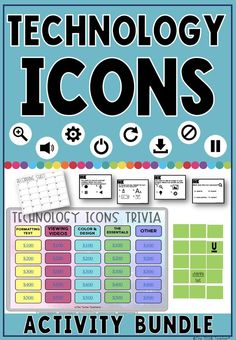 Technology Icons Activity Bundle By The Techie Teacher Tpt - This Technology Icons Bundle Includes Different Activities To Help Students Learn And Recognize Universal Icons That Appear In The Digital World Activities Are Also So Separately Technology Ico Technology Tools, Digital Technology, Educational Technology, Science And Technology, Instructional Technology, Technology Logo, Science Geek, Technology Integration, Assistive Technology