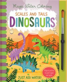 Buy Scales and Tails - Dinosaurs by Jenny Copper at Mighty Ape NZ. Magic pictures you can colour again and again! Create colourful dinosaur pictures with Magic Water Colouring. Magical Pictures, Colorful Pictures, Best Seller Livre, Five Little Monkeys, Dinosaur Pictures, Free Books Online, Roald Dahl, Electronic Gifts, Any Book
