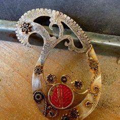 Sterling Silver with fabric Design Studios, Paisley Design, Cuff Bracelets, Jewlery, Pendants, Necklaces, Pendant Necklace, Contemporary, Sterling Silver