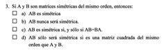Ejercicio 3 del Examen de Matemática 2 (ADE, ULL). 14 Julio 2011. Tema: Matrices