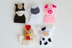 My farm animals finger puppets (using a pattern from Etsy)