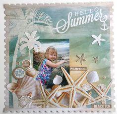 'Hello Summer' Amanda Baldwin DT for Kaisercraft 'Sandy Toes' Collection - Wendy Schultz ~ Mixed Media.