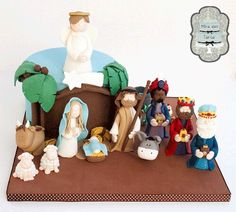 Nativity cake by @miraquetarta