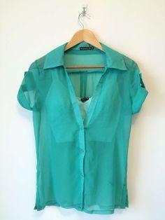 Camisa transparente com top