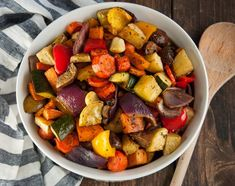 Balsamic roasted veggies are one of the easiest, tastiest, and healthiest way to get your vegetable servings. via Not Fasting