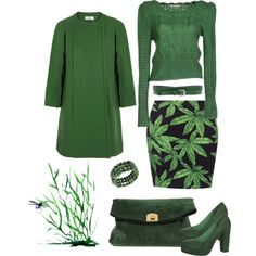 """green"" by vampyrka on Polyvore"