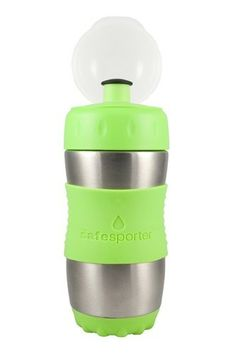Kid Basix The Safe Sporter 12 Oz. Stainless-Steel Sports Water Bottle In Lime Filtered Water Bottle, Bottled Water, Stainless Steel Water Bottle, Drink Bottles, Water Bottles, Lime, Cleaning, Water Sports, Coaster