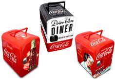 mini geladeira retrô da Coca-Cola
