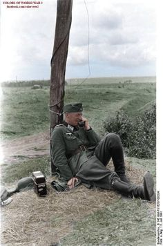 """A German officer uses telecommunications during """"operation Barbarossa"""""""