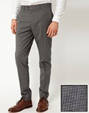 ASOS | ASOS Slim Fit Smart Trousers in Dogstooth at ASOS