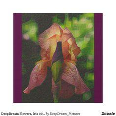 DeepDream Flowers, Iris 001 02