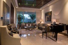 San Patricio : Salas de estilo Moderno por Rousseau Arquitectos
