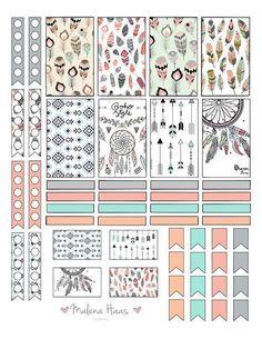 Malena Haas: FREEBIE Friday Boho Chic Planner Stickers
