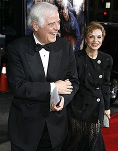 """George Clooney's parents, Nick Clooney, left, and Nina arrive at the premiere of """"Leatherheads"""" in Los Angeles on March 11, 2008.  CREDIT: AP PHOTO"""