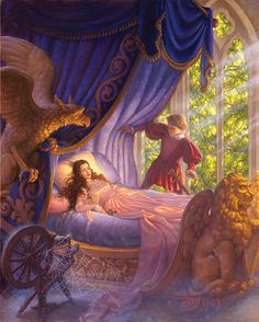 www.hiddenridgegallery.com -  Scott Gustafson - Sleeping Beauty Canvas.