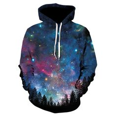 Watching sky and space through the forest with Hoodies will be an awesome experience. Very good quality - realistic print Hoodies model is gonna make you feel those feeling. You're bored of classic style hoodie disappearing in stasis of life, i Streetwear Hats, Ricky And Morty, Galaxy Sweatshirt, Plus Size Hoodies, Yellow Hoodie, Pullover, Hoody, Mens Sweatshirts, Street Wear