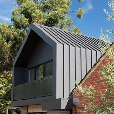 colorbond roof and cladding Zinc Cladding, Roof Cladding, House Cladding, Exterior Cladding, Facade House, Julia's House, House Roof, Modern Roof Design, Colorbond Roof