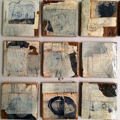 Afbeeldingsresultaat voor Drawings on collage on wood.....